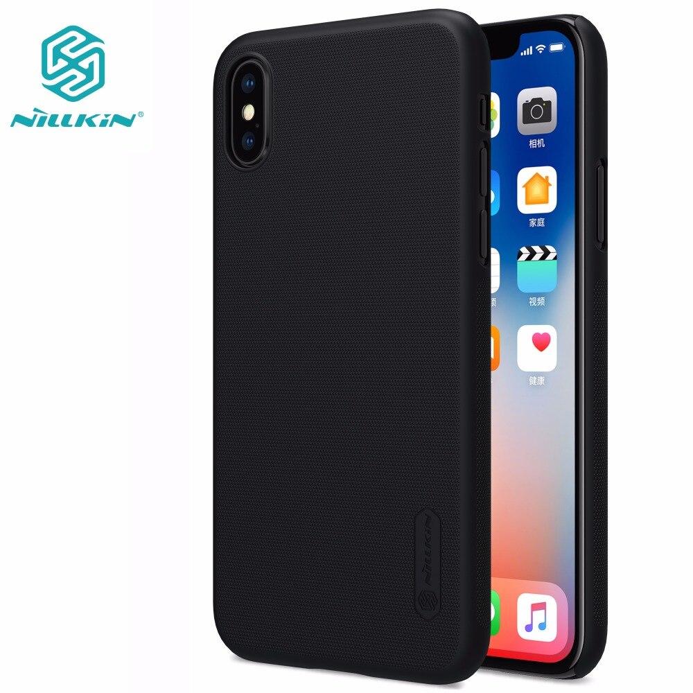 Capa para iphone xs max x xr 8 plus nillkin super fosco escudo caso capa traseira para iphone xs