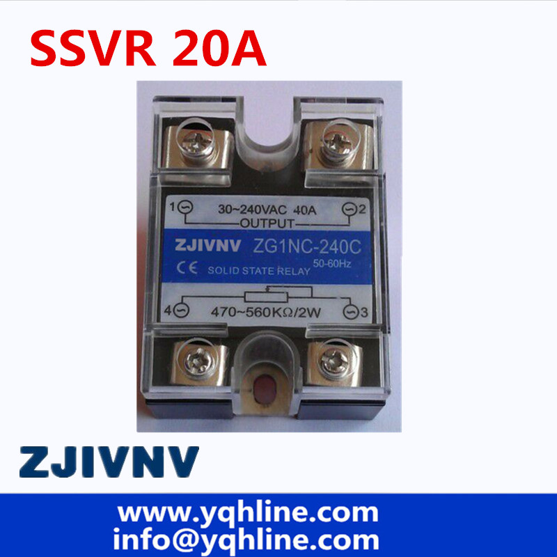 SSR -20VA VR To AC <font><b>20A</b></font> Solid State Voltage Regulator SSVR 470-560Kohms 2w control 240vac ZG1NC-220C image