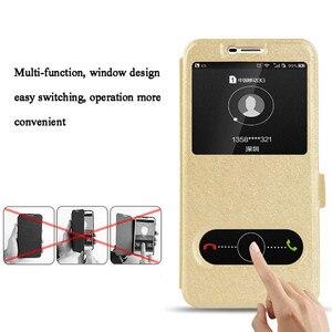Image 2 - 스마트 윈도우보기 삼성 갤럭시 M10 M20 M30 A10 A20 A30 A40 A50 A70 A8S A9S 케이스 커버에 대 한 명확한 가죽 스탠드 플립 전화 케이스