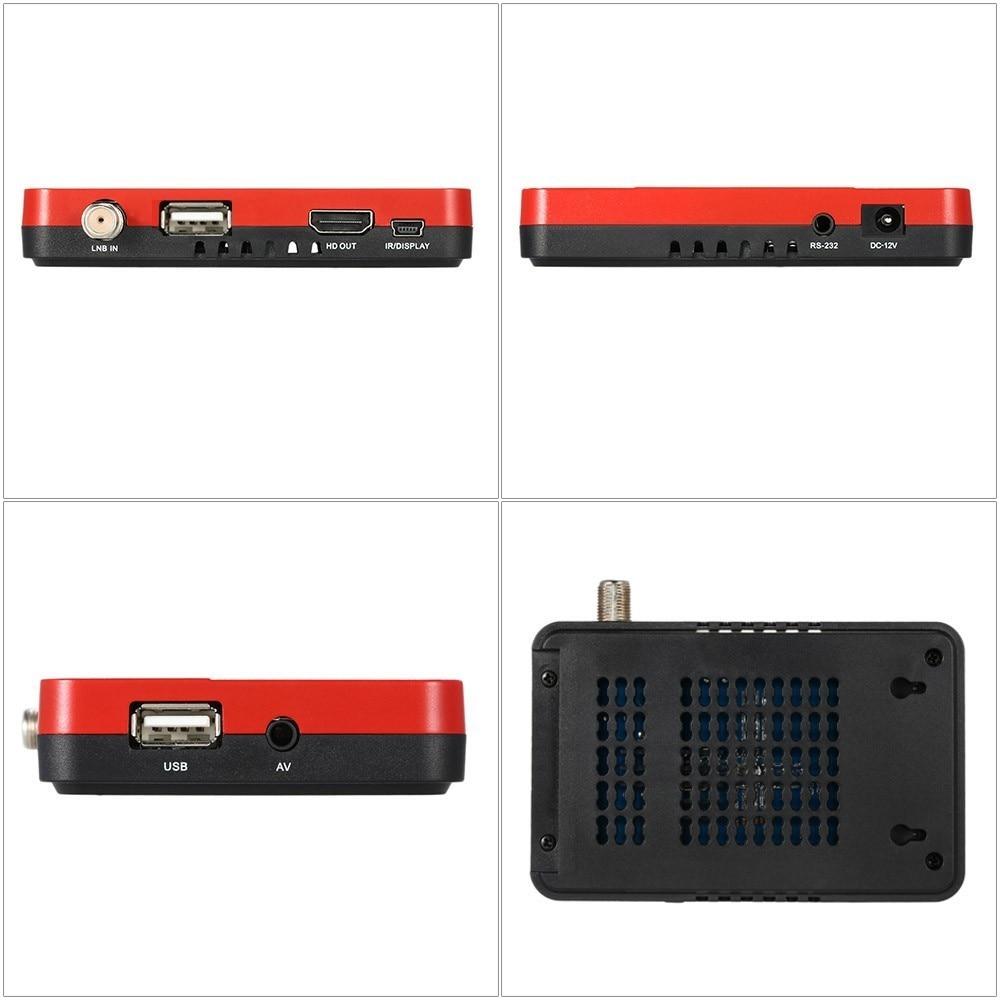 1080P DVB-S2 Satellite Receiver DVB S2 Receptor Digital TV Box Tuner Cline BissVu Decoder m3u IPTV Ethernet Wifi Youtube Player 8