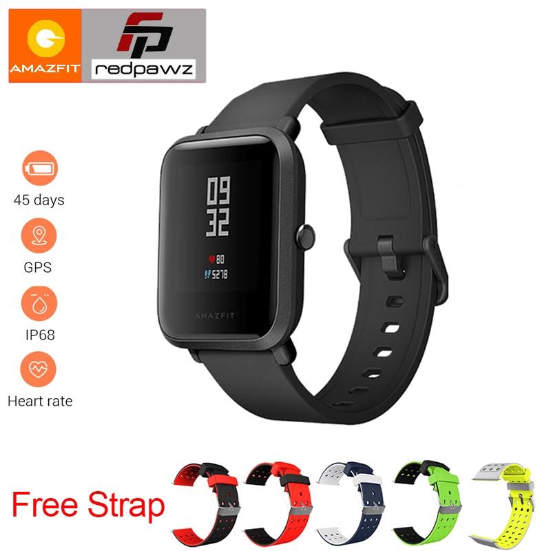 Anglais Version Xiaomi HUAMI Amazfit Montre Smart Watch Jeunes Bip PEU RYTHME Lite 32g ultra-léger Écran 1.28 étanche GPS Boussole