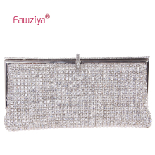 Fawziya Metal Frame Dazzling Diamond Baguette Women Bag