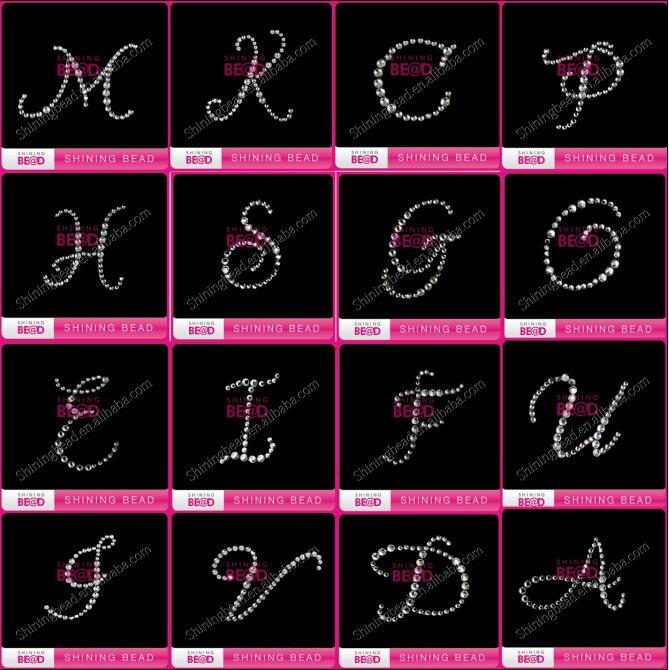 63c25c6ef1 US $275.9  Aliexpress.com : Buy wedding clear rhinestone letter sticker for  box,free shipping,popular rhinestone alphabet sticker for bridal shoe from  ...