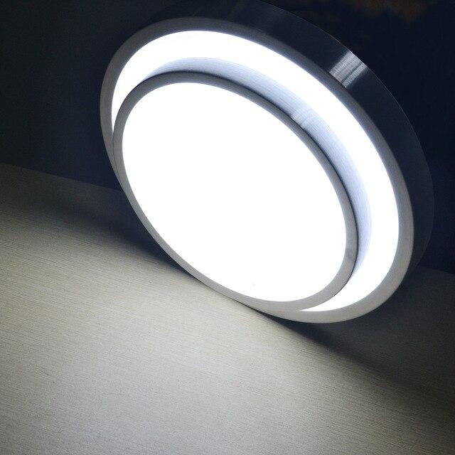 Us 2776 35 Off15 W światła Led Sufitu Montowane Na Powierzchni Srebra Granic Biały Abażur Lampy Pokojowe Zimne Białe 90 240 V W 15 W