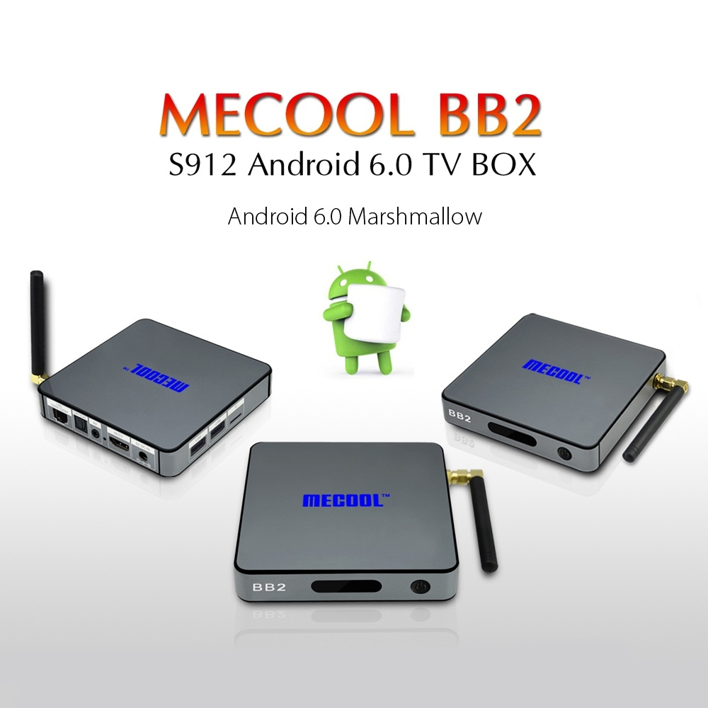 MECOOL BB2 4K UHD Smart Android 6.0 TV Box Set-top Box Octa Core 2GB 16GB 4K Amlogic S912 ROM Smart tv box WiFi Media Player AU esprit esprit esrg 91484 a