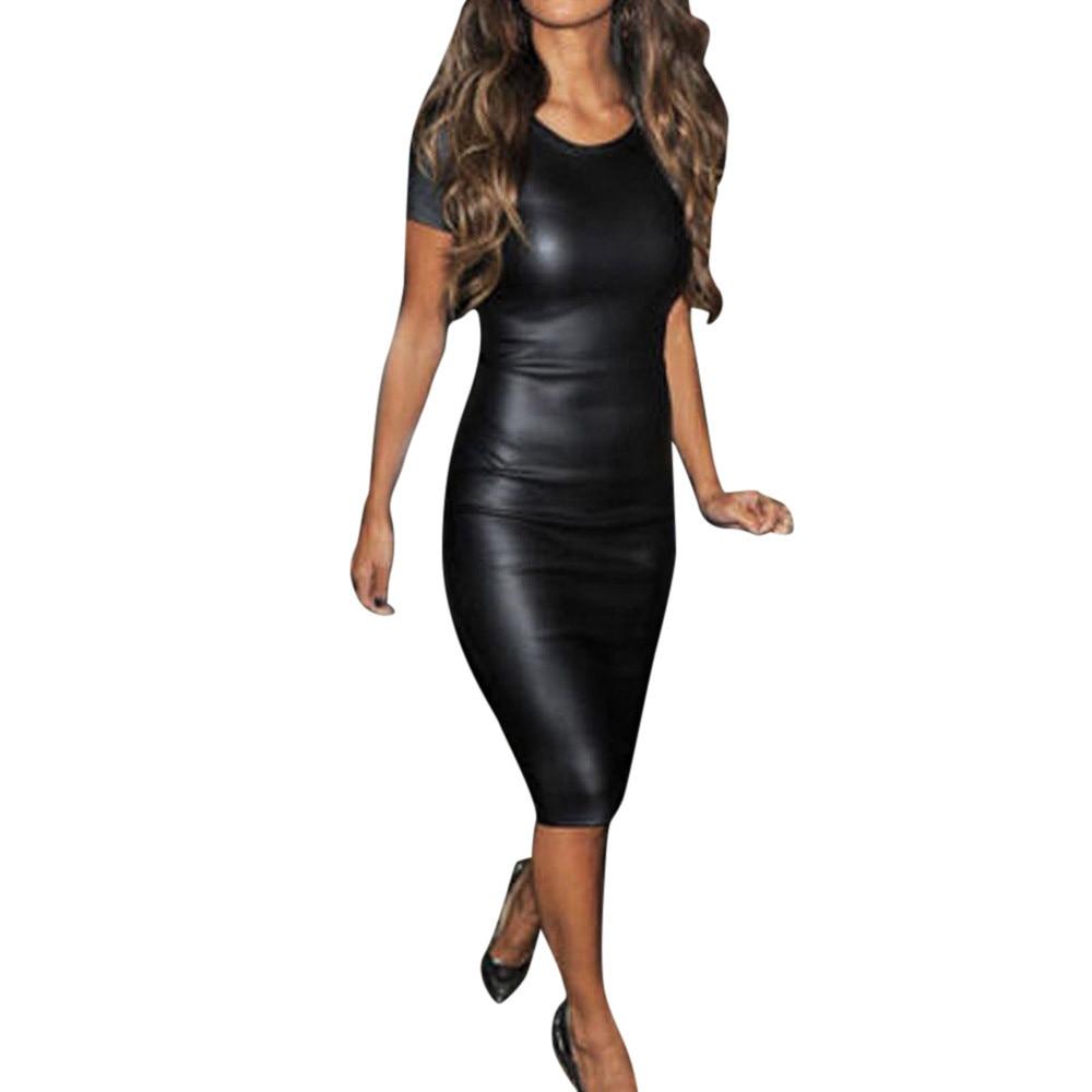 On girl dress with skinny short bodycon satin