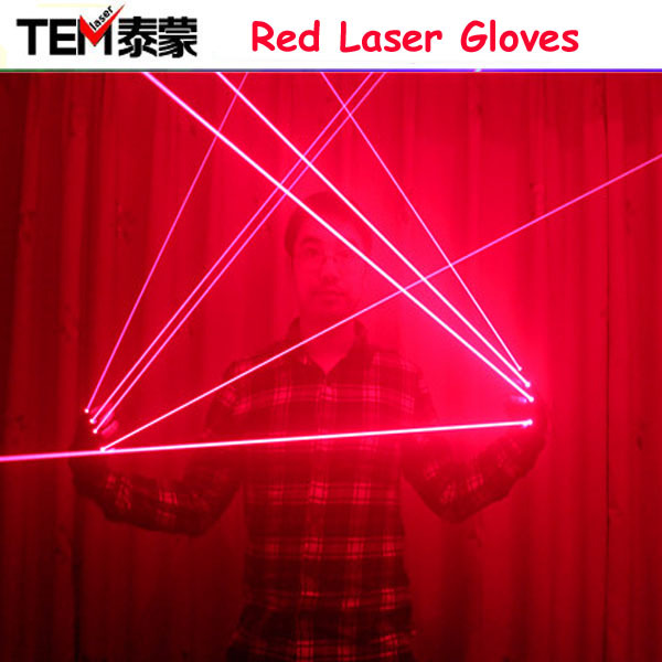 Free Shipping Red Laser Gloves With 4pcs 650nm Laser,Disco LED laser Gloves,For DJ Club Party Show