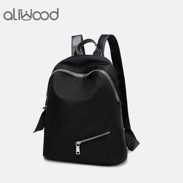 1aa57c61911e Women Backpacks Trendy Casual Waterproof Nylon Backpack Simple Female  School Bag For Teenagers Girls Travel Mochilas