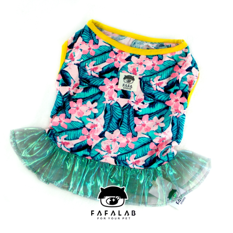 Pets Apparel Dogs Clothes Fashion Flower French Bulldog Dress