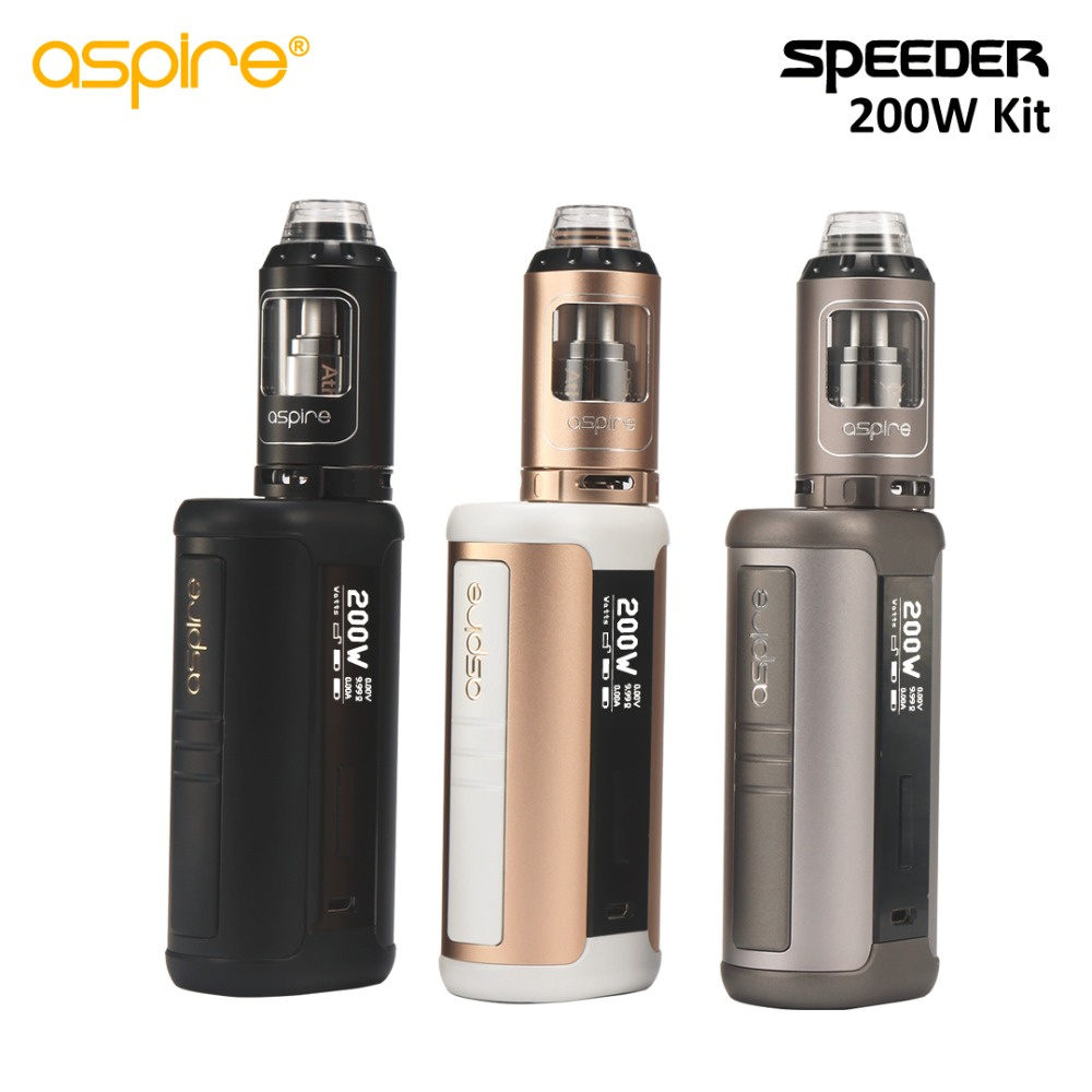 2017 Newest Original Aspire Speeder 200W Kit With Speeder Mod and 4ML Athos Tank without Battery Aspire Speeder 200 1Pcs/Lot original aspire speeder tc kit 200w with speeder box mof and 4ml athos tank adjustable bottom airflow top filling dense clouds