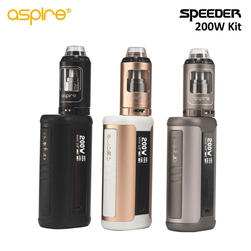 Cigarette électronique Aspire Speeder 200 W Vaporisateur Kit 4 ML Vaporisateur avec 18650 Boîte Mod Haute Puissance E Cig Dispositif