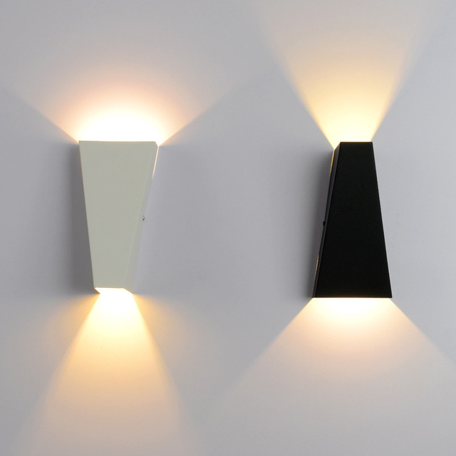 10w Mordern Led Wall Light Dual Head Geometry Lamp Sconces For Hall Bedroom Corridor Restroom Bathroom Reading