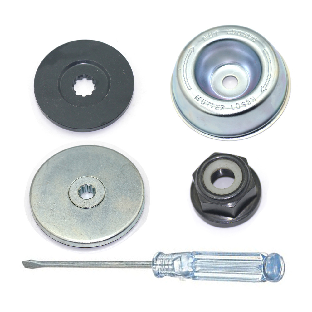 4pcs//Set Replaces Strimmer Brushcutter Gearbox Metal Blade Nut Fixing M10 LH Hot