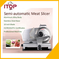 110V Frosen Meat Slicer Deli Cutting Machine Commercial Semi Automatic Heavy Duty