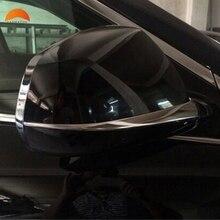Per Cadillac SRX 2012 2013 2014 Macchina Indietro Specchio Sopracciglio Pioggia Specchietto retrovisore Adesivi Anti-graffio Strisce Esterno Stampaggio trim