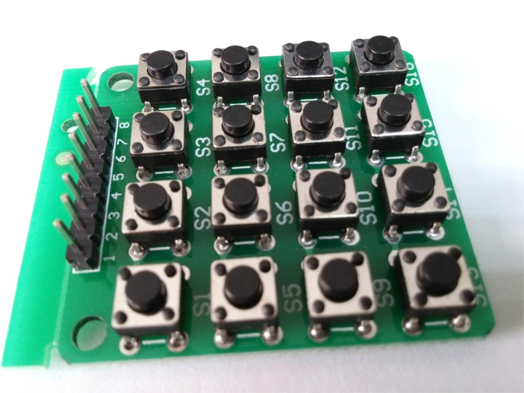 62b51d258e8 4x4 Matrix 16 Keypad Keyboard Module 16 Button Mcu for Arduino SG130 ...