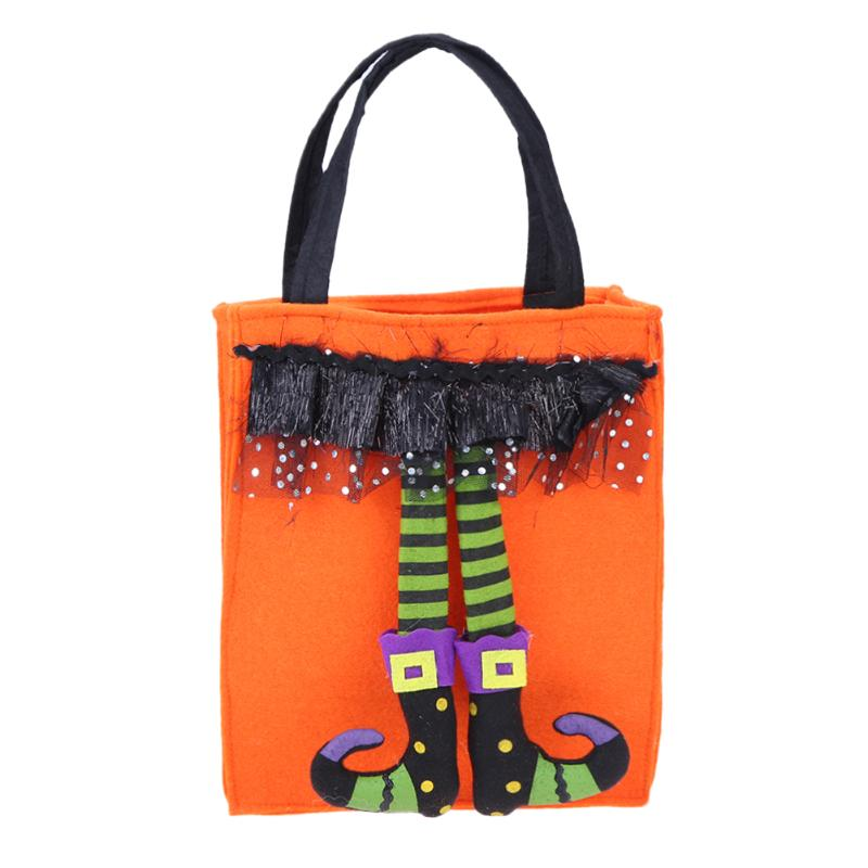 0d795bcfaf Halloween Pumpkin Non woven Straw String Candy Storage Bag Funny Storage Bag  for Kids Collect Candy Halloween Supplies-in Storage Bags from Home    Garden on ...