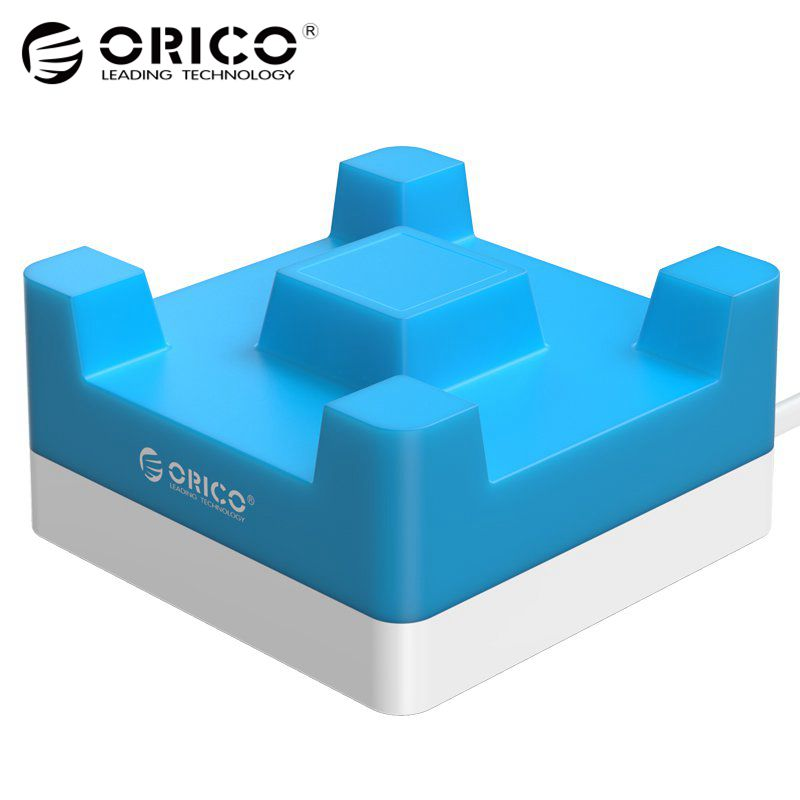 ORICO 4 Port 20W Desktop USB Charger with Phone / Tablet Mount for iPhone Samsung Xiaomi - (CHA-4U)