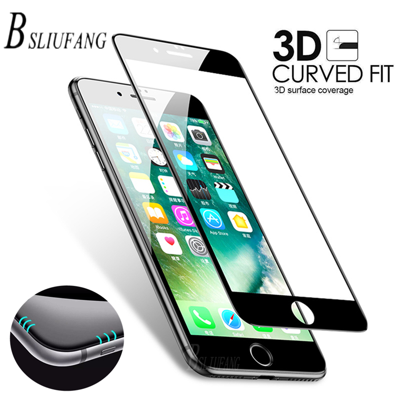 BSLIUFANG 3D Screen Protector Tempered Glass For IPhone XR Xs Max X Full Cover Protective Glass Film For IPhone 7 8 6 6S Plus