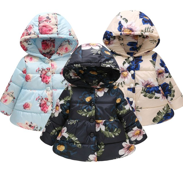 674c2e540 New Spring Autumn Toddler Baby Girls Boys Winter Floral Thick Warm ...