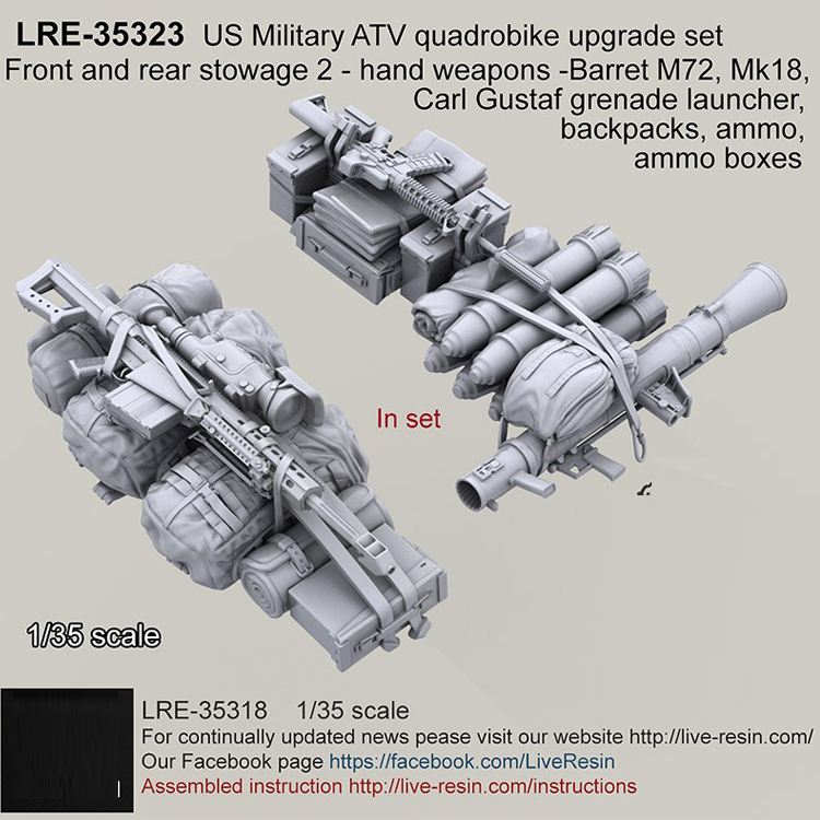 1/35 Resin Model Kit US Military ATV Quad Bike Upgrade Set  Unpainted Free Shipping 248G