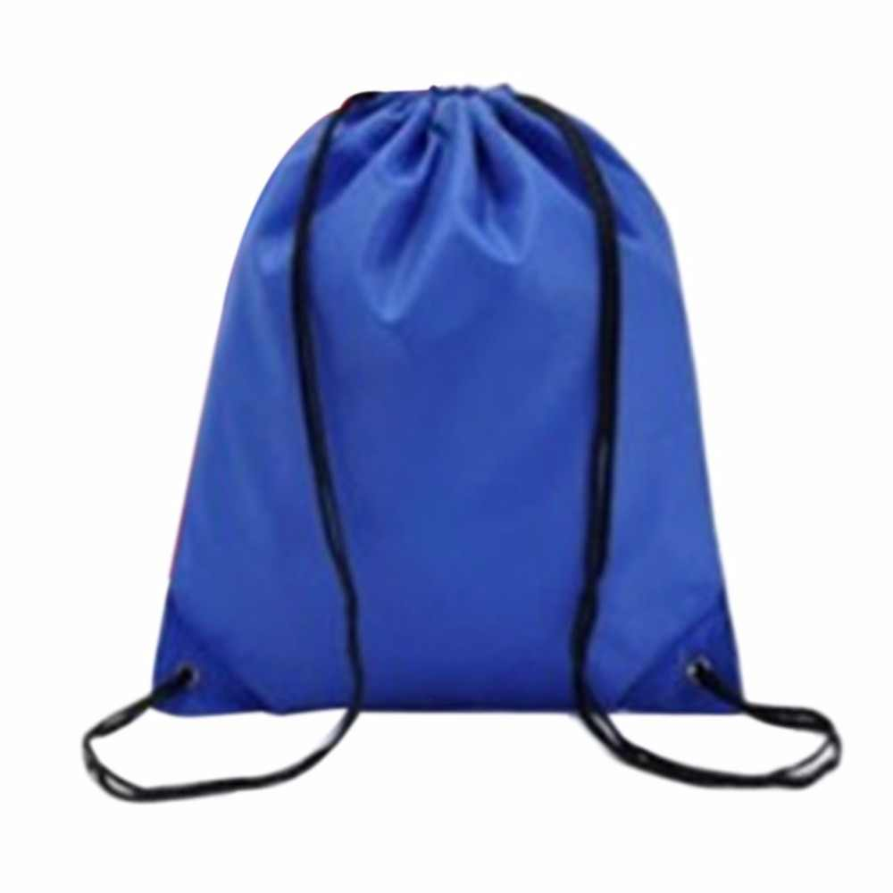 86ab4fae48 ... Waterproof Swimming Gym Bags Drawstring Beach Shoe Bag Black Packagng  Sport Backpack Swim Dance Bag 4