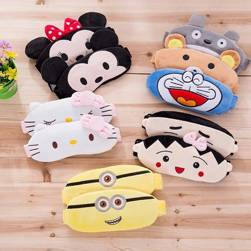 11 Styles Cartoon Plush Animals Eye Mask Stuffed Totoro Cat Shade Light Cover Mask Kids Girls Gifts