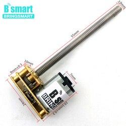 Резьбовой вал электродвигателя постоянного тока Bringsmart 1024GN20 M4 55 мм 3 В ~ 12 В 15/25/30/60/100/120/150/200/250 об/мин