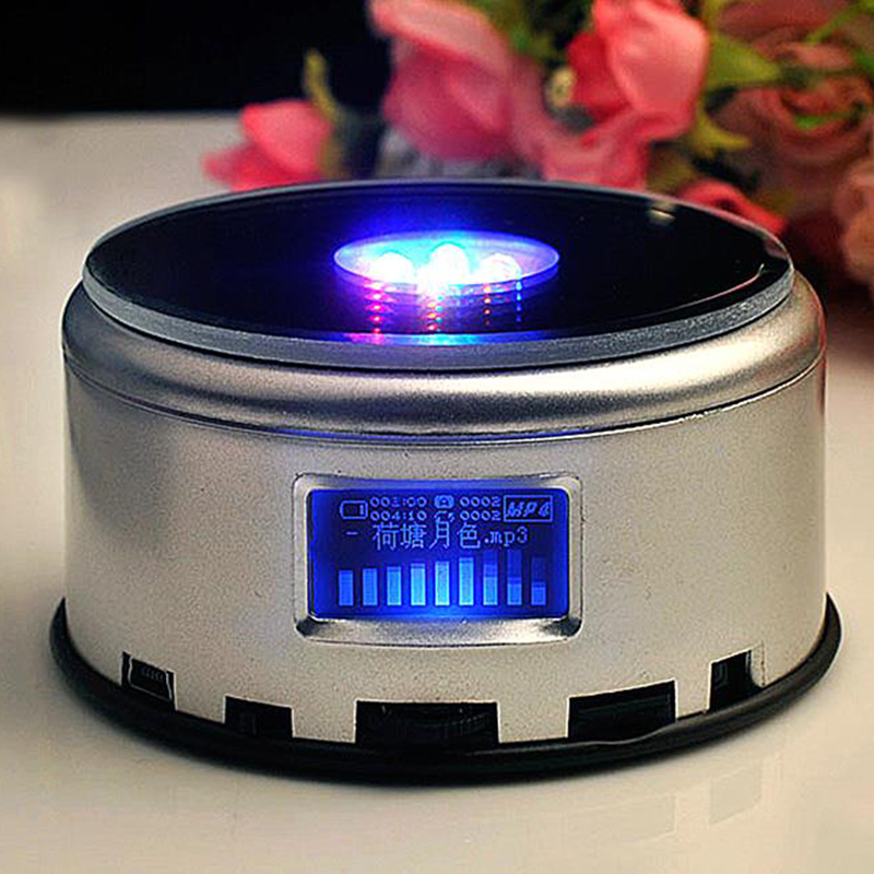 Image 4 - LED Colorful Luminous MP4 Music Bluetooch Base Light Rotating Crystal Display Base Stand Holder-in Lamp Bases from Lights & Lighting