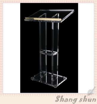 Acrylic Desktop Lectern Acrylic Lectern Stand / Acrylic Podium Pulpit Lectern for Church Modern Design Acrylic Lectern фото