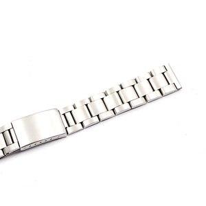 Image 5 - Rolamy saat kayışı 17 18 19 20mm 316L Paslanmaz Çelik Gümüş Fırçalanmış Kayış Eski Stil Oyster Bilezik Düz Uçlu Vida linkler
