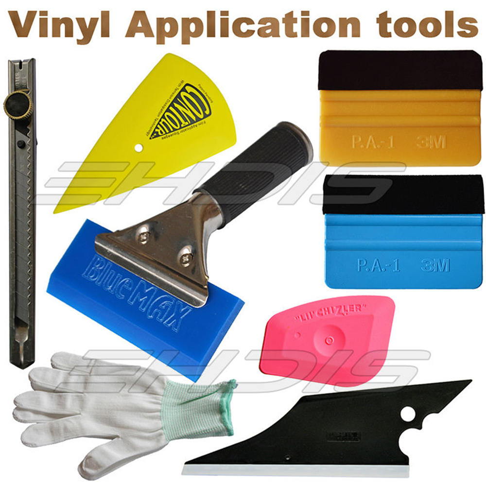 8 IN 1 Vinyl Installation Car Wrapping Tool kit 3M Felt Squegee font b Knife b