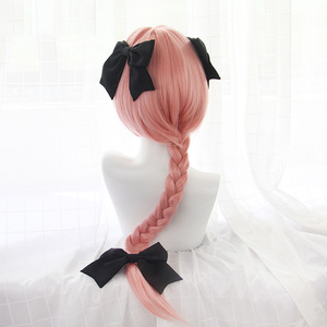 Image 3 - New Arrival Game Fate Apocryph Astolfo Cosplay Wigs 75cm Pink Heat Resistant Synthetic Hair Perucas Cosplay Wig