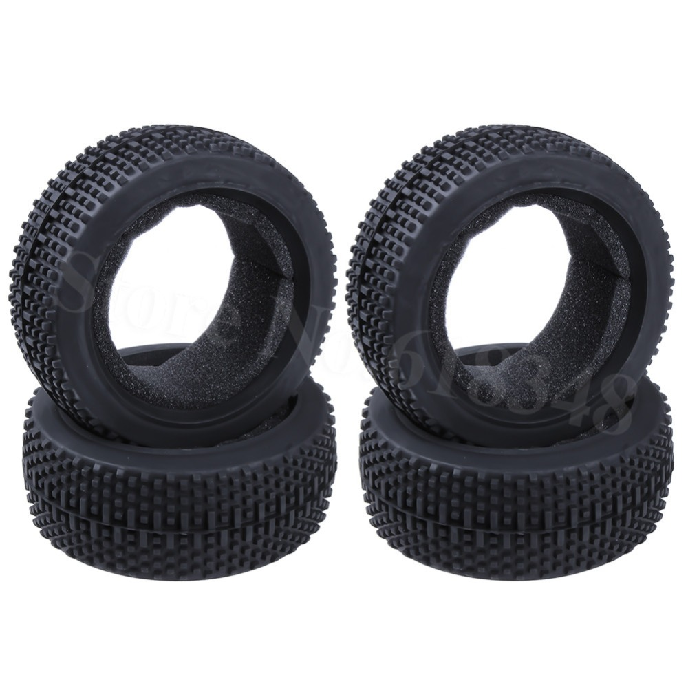 """4pcs Rubber 3.2"""" Tire 17mm Hub Diameter 115 Width: 42mm For RC 1/8 Off Road Buggy HSP Redcat HPI Losi Ofna Kyosho(China)"""