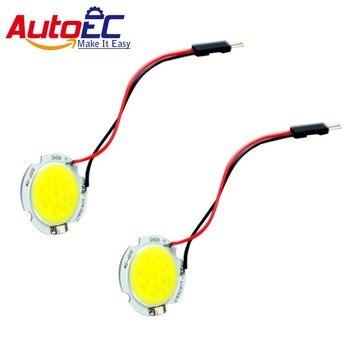AutoEC 300x led Dome Light Car Light Panel LED Lamp Dome Bulb 15 cob chips solar panel 12v #LL29