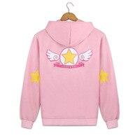 Cartoon Card Captor Sakura Hoody Ladies Cosplay Sweatshirt Hooded Pocket Tops Cute Harajuku Hoodie Hoodie Woman Coat