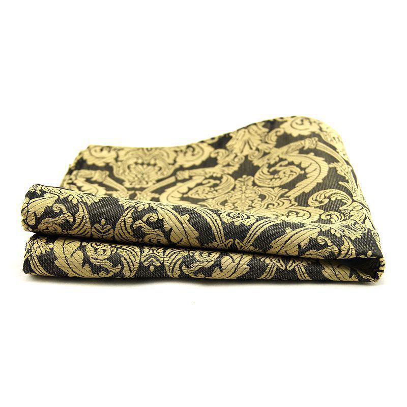 Men's Paisley Floral Handkerchief Pocket 30*30cm Pocket Square Wedding Suits Chest Towel Hanky Polyester Hankies