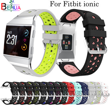 Star shape soft Silicone watch strap For Fitbit ionic Wristband Wrist Strap Smart Watch Band Strap of sport watch accessories band for fitbit ionic soft silicone replacement sport band strap for fitbit ionic smart fitness watch band sport high quality