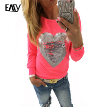 Tee Shirt Femme Heart Tees Women Tshirt Womens Tops Fashion 2017 Cotton T Shirt Plus Size T-shirt Long Sleeve Camisetas Mujer5XL