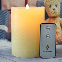 5Inch Ivory LED Electronic Candle Lights Flameless Battery Operated Candle Lamps Water Ripple for Party Wedding Home Decor
