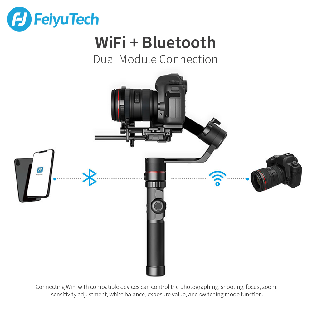 Image 2 - FeiyuTech AK2000 Handheld DSLR Camera Stabilizer Gimbal Video estabilizador for Sony Canon 5D Panasonic GH5 Nikon 2.8 kg Payload-in Handheld Gimbals from Consumer Electronics