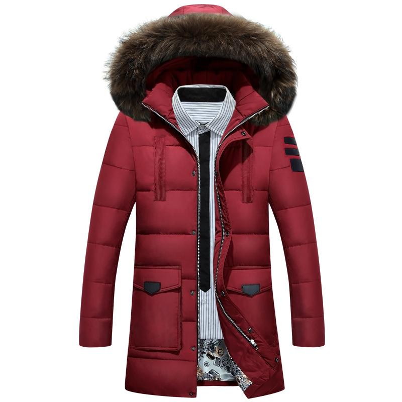 2017winter Park Men Coat Outerwear Man Cotton-padded Jacket Fashion Casual Hooded Solid Warm Plus Size Long Outer Clothing 2016 new long winter jacket men cotton padded jackets mens winter coat men plus size xxxl