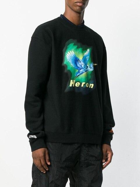 aa5d648c86674 Latest 18fw Heron Preston Bird Printed Embroidery OVERSIZE Men Women Long  Sleeve T-shirt Sweatshirt