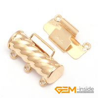 Clasp 3 Strings Yellow 14K Gold Filled Jewelry Clasp 6 5X16MM One PCS To Sale For