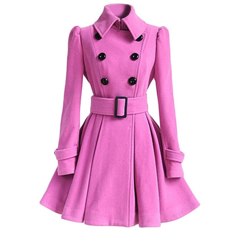 Autumn Winter Coat Women 2019 Fashion Vintage Slim Double Breasted Jackets Female Elegant Long Warm White Coat casaco feminino 12