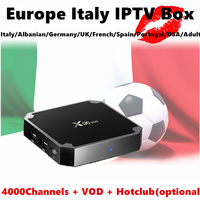 Italy Italian IPTV Box X96 Mini S905W 8G Rom Android Tv Box Europe French Germany Belgium