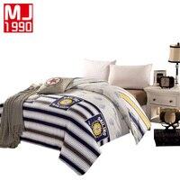 New Soft 100 Cotton Duvet Cover Single Printing Stripe Quilt Cover 1 Pcs Bedding Sets Size