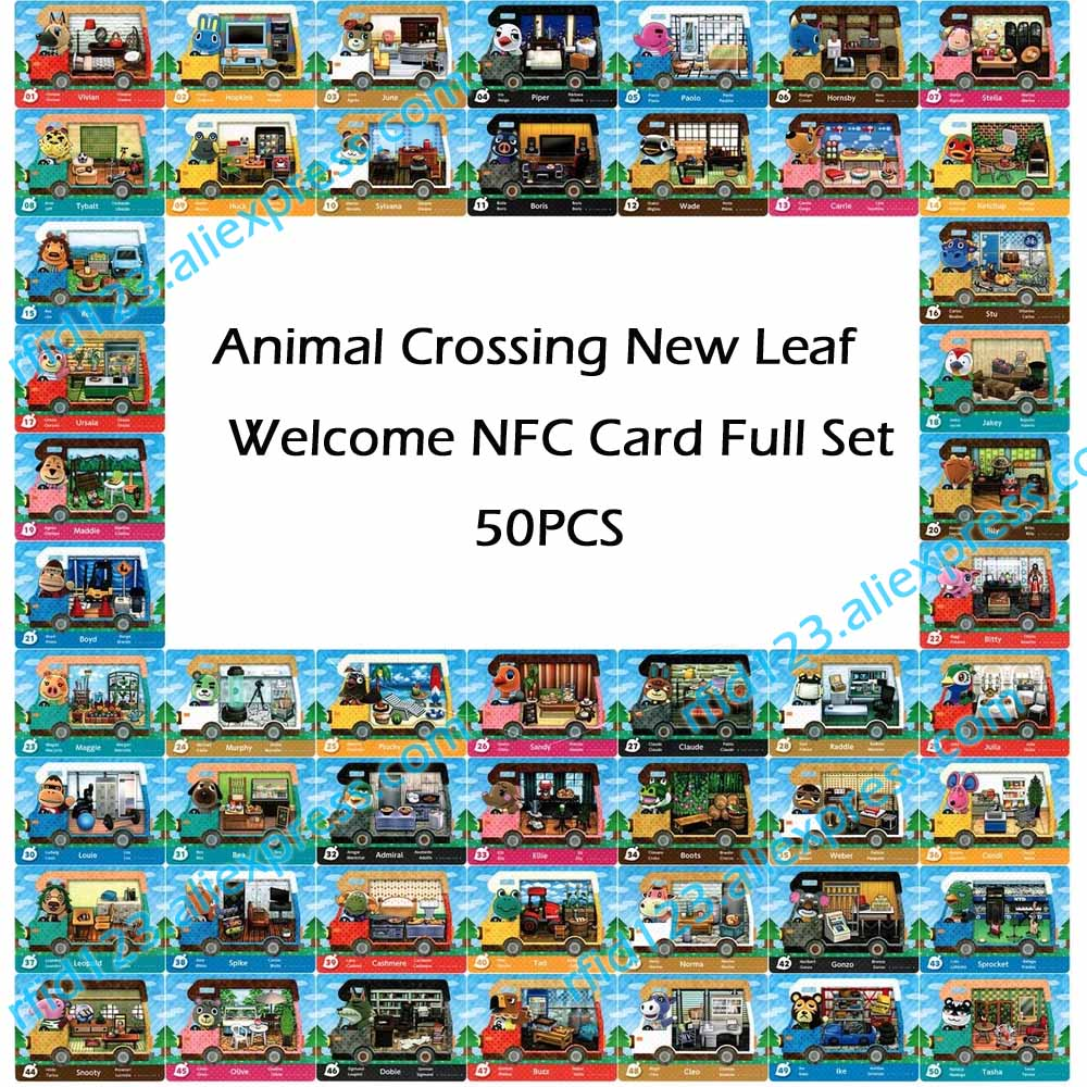 50pcs NFC NTAG215  Card Work For Animal Crossing New Leaf Welcome NFC Printing Card-in Access Control Cards from Security & Protection