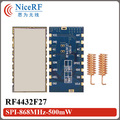 10pcs/lot  RF4432F27 500mW SPI Interface embedded anti-interference 868/915MHz FSK Transceiver Module +10pcs Spring Antenna