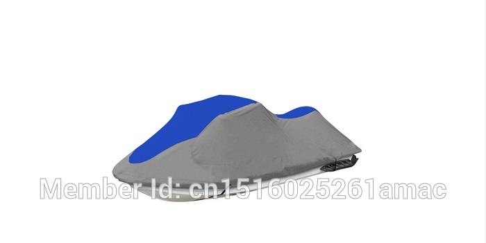 600D PU coated Oxford polyester jet ski cover,PWC,suit for jet ski length 116-135inches,294-343cm Blue dark grey ...